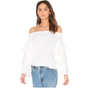 NWT Endless Rose off the shoulder Sweater - Ivory